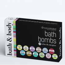 Concentrated Naturals Bath Bombs 12-piece Set